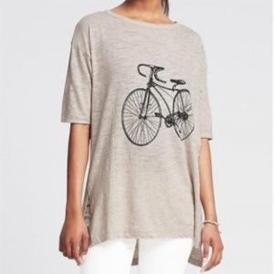 Banana Republic Bike Graphic Tee NEW with Tags